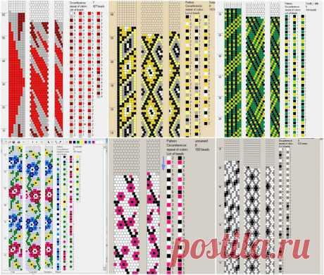 80 схем вязания шнуров из бисера на 7-8 бисерин Вязание с бисером – Бисерок Большая подборка схем для вязания с бисером. Множество разноцветных узоров и эскизов.