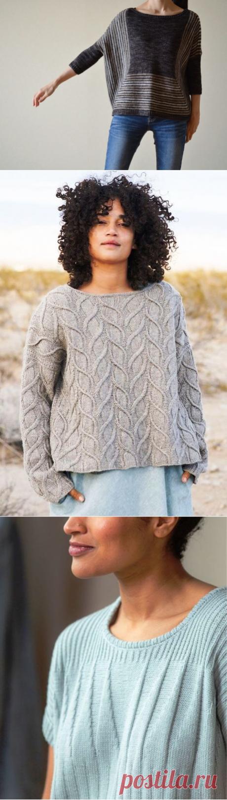 Пуловеры спицами. Три модели с описанием | Вязаные истории | Яндекс Дзен