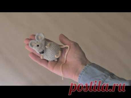 Мастер-класс брошь амигуруми Мышка