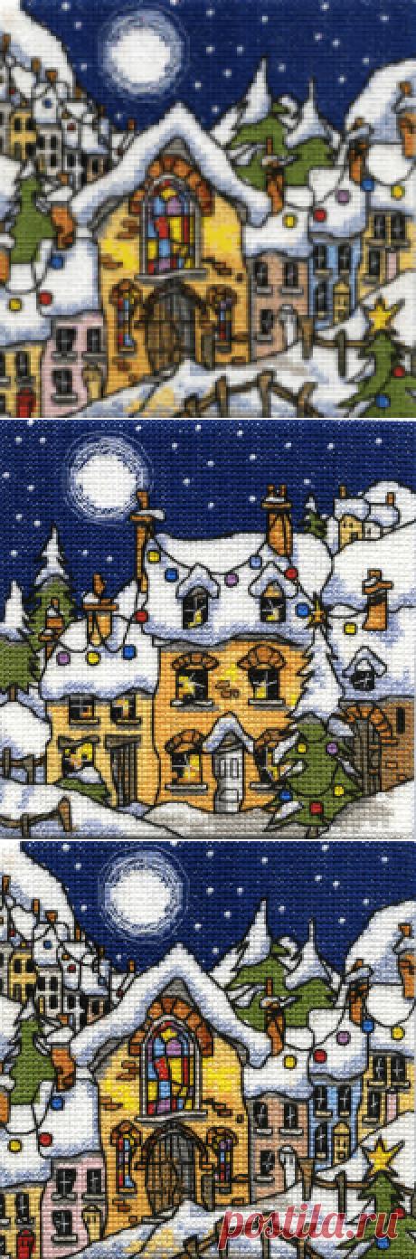 Схемы для вышивки Michael Powell. Снежные домики.