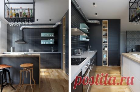Дизайн кухни в стиле лофт: урбанистический шик