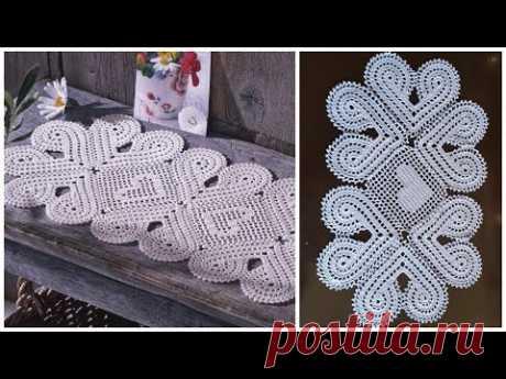 مفرش طاولة مميز جدا مع إمكانية التكبير الجزء الأول  Crochet doily easy and very beautiful