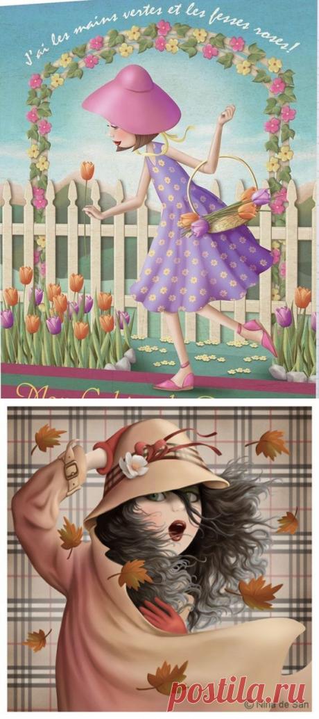 Иллюстрации NINA DE SAN (2 часть)