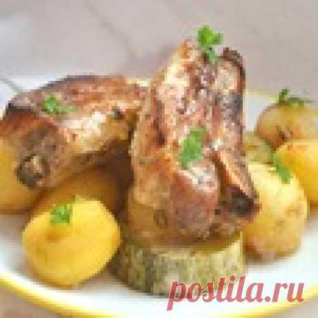 Запеченные свиные ребра Кулинарный рецепт