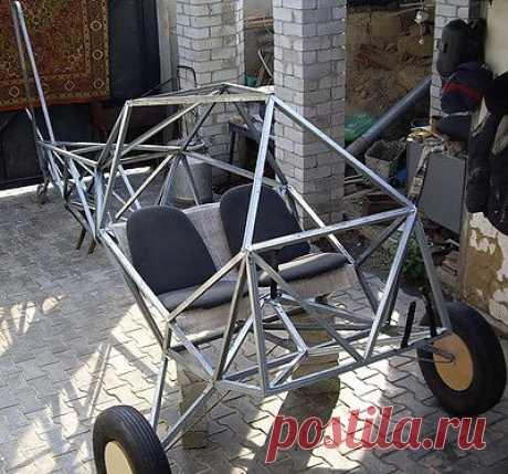 Макет фермы фюзеляжа 1:1. Проект двухместного самолета.
