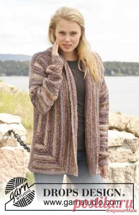 Unusual warm jacket from DROPS. Spokes. - KNITTED FASHION + FOR NOT MODEL LADIES - the Country of Mothers