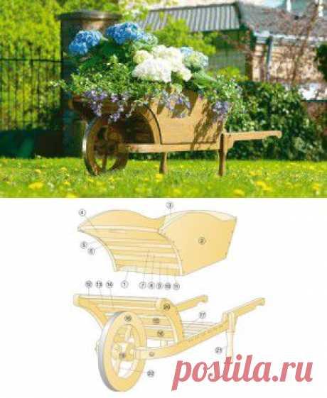ДЕКОРАТИВНАЯ ТАЧКА ДЛЯ ЦВЕТОВ | Цветники, газоны,поделки