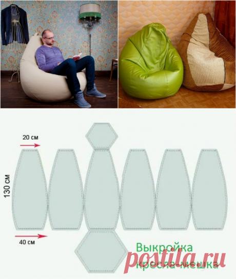 Воплощение комфорта и уюта! Кресло-мешок своими руками