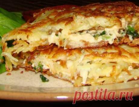 Курица в ажуре из картофеля – кулинарный рецепт