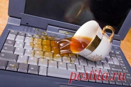Жидкость и ноутбук – не совместимые: первые Ваши действия защиты от воды  Как мы знаем, то большинство людей использует ноутбук именно для работы. Эти люди таскают ноутбук за собой везде. Когда они идут на обед или вообще кушают возле ноутбука, они могут причинить вред сво…