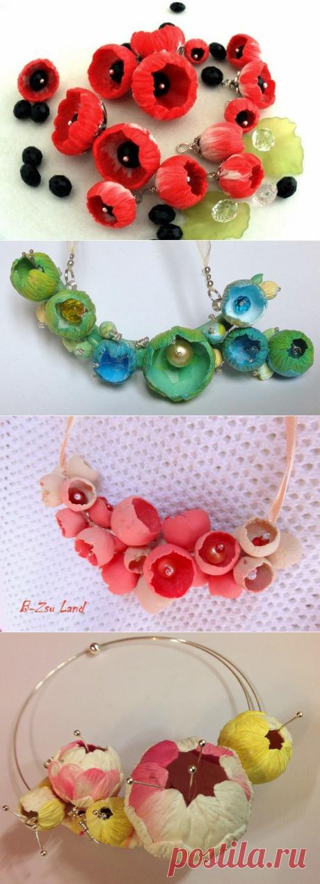 Как сделать необычные цветы из полимерной глины