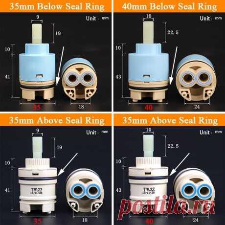 Кран смешивания высокого шпули клапан 35 мм/40 мм керамический картридж кран картридж смеситель для кухни ванной бассейна смеситель для душа аксессуары Картриджи для смесителей    АлиЭкспресс
