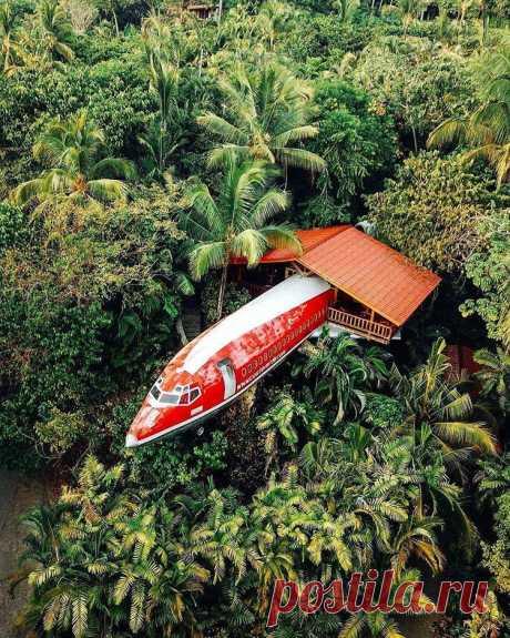Боинг 727, превращённый в гостиничный номер в национальном парке Коста-Рики. Фотограф Ada Mazurek