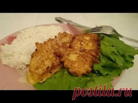 El pez en el rebozo la Receta con mintaem como preparar el plato es sabroso la cena de casa clásico rápidamente el vídeo - YouTube