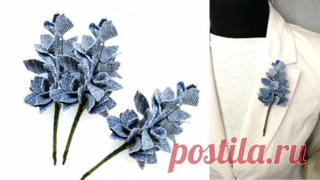 Букет цветов из джинсовой ткани. Мастер-класс Модная одежда и дизайн интерьера своими руками