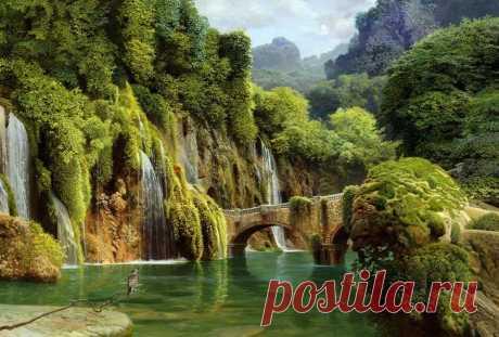 Водопады в живописи