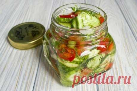 Салат из огурцов с луком на зиму. Пошаговый рецепт с фото