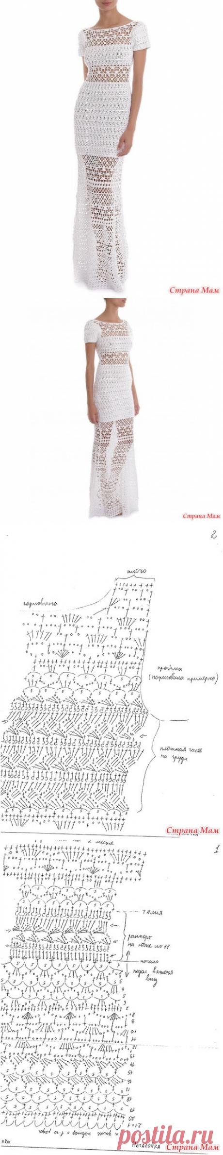"""Ажурное длинное платье """"LILLY"""" от бразильского дизайнера Lilly Sarti, крючком + схема. - Вязание - Страна Мам"""