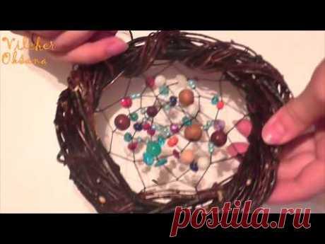 Как сплести ловец снов из березы |  DIY - YouTube