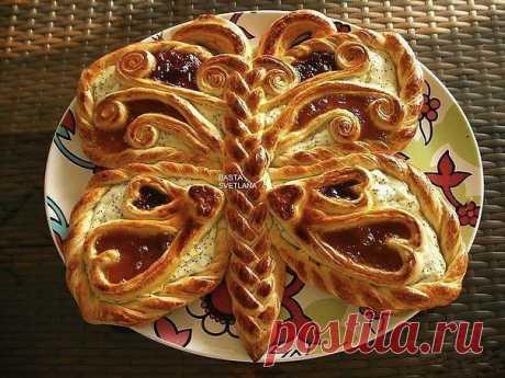 Пирог Бабочка с творожным кремом и вареньем / Изысканные кулинарные рецепты
