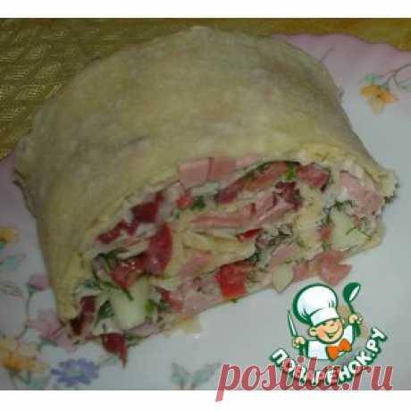Рулет из лаваша с салатом - кулинарный рецепт
