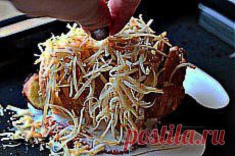 Гармошка из картофеля запеченного с сыром | Don Аппетит