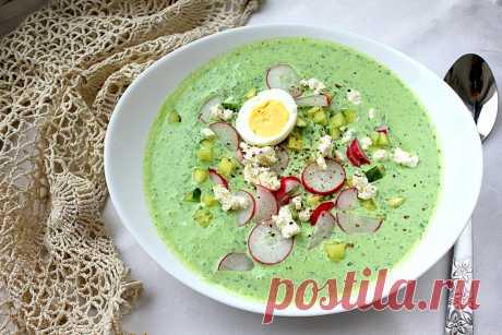 Как приготовить холодный суп с щавелем и фетой   Меню недели
