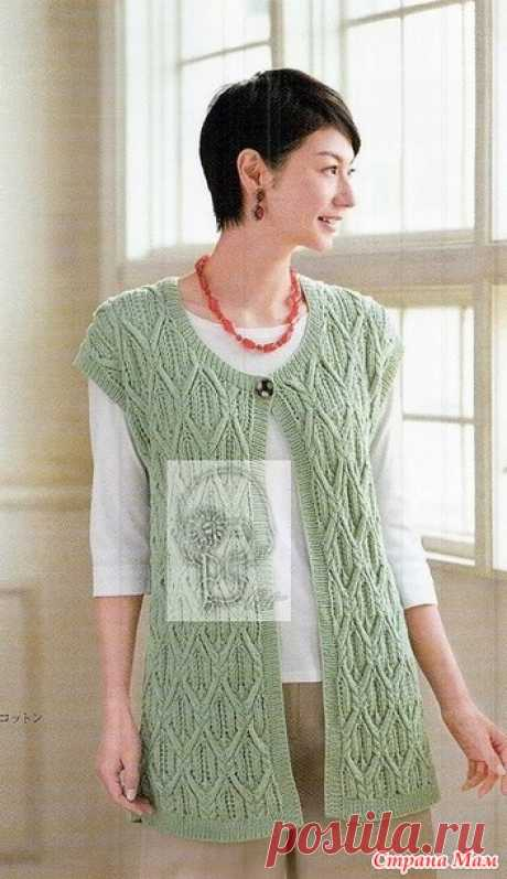The extended vest spokes. - KNITTED FASHION + FOR NOT MODEL LADIES - the Country of Mothers