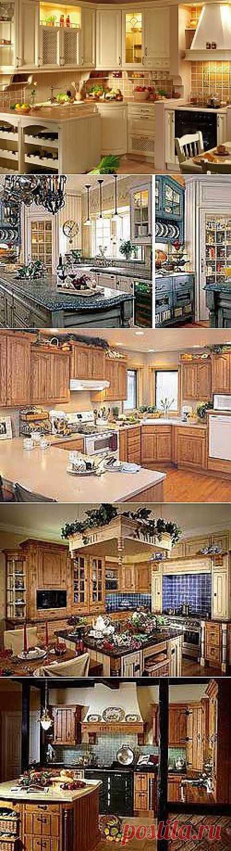 Кухни в стиле Кантри. Стиль кантри в кухонной мебели.