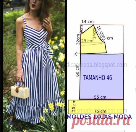 Сарафан в полоску Модная одежда и дизайн интерьера своими руками