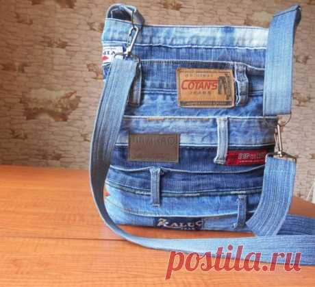 Мастер-класс, как сшить сумочку из старых джинс своими руками: маленькая сумочка из джинсов