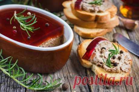 Французский паштет с прослойкой винного желе — Sloosh – кулинарные рецепты