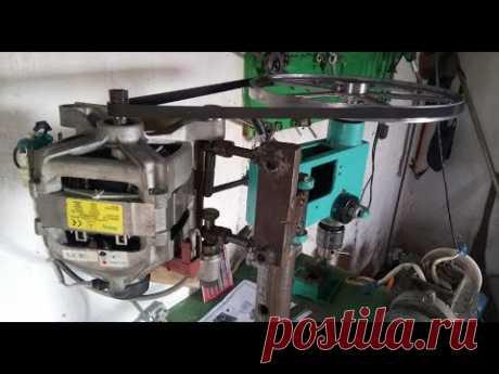 Двигатель от сиральной машины на сверлильный станок  СУПЕР - YouTube