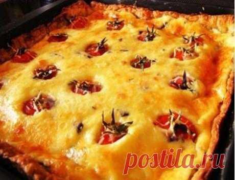 Пирог с помидорами Черри рецепт с фото пошагово - 1000.menu