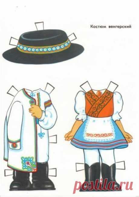 Бумажные куклы с одеждой из нашего детства. Кто помнит такие?