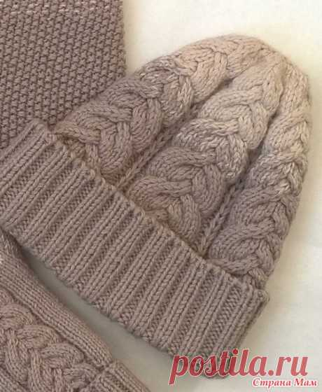 Шапка, снуд, варежки. Мой зимний комплект - Вязание - Страна Мам