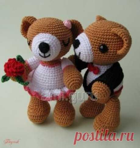 Вязаные свадебные мишки — Вязаные игрушки. Амигуруми всех стран, соединяйтесь