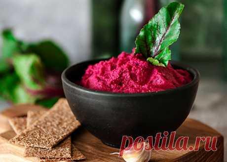 Хумус веганский из свеклы | Veganle