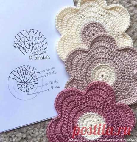 Схемы вязания простых цветочков и звездочек — Сделай сам, идеи для творчества - DIY Ideas