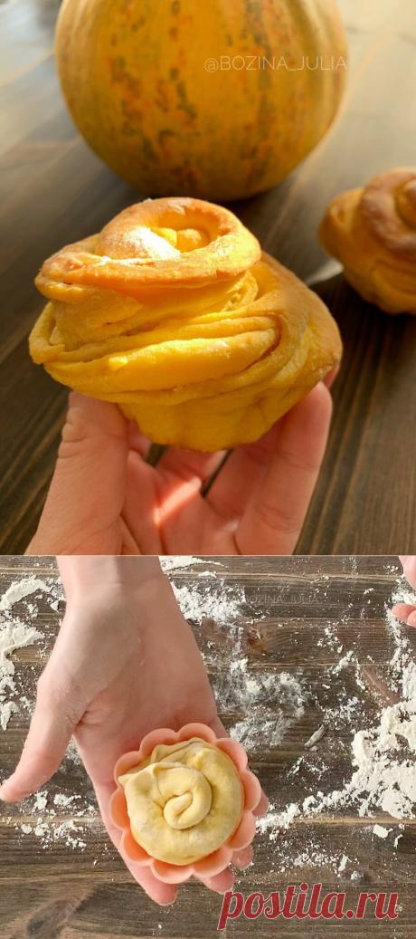 Даже не думала, что тыква бывает такой вкусной - готовим тыквенные булочки | Сладкий Персик 🍑  | Яндекс Дзен