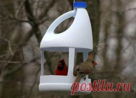 Как корзины Пластиковые бутылки для кормушки для птиц, творческие идеи для Переработанных ремесел