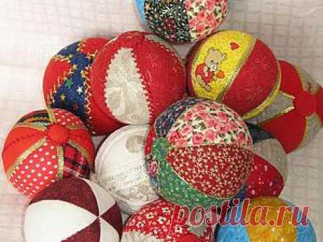 Мячики из ткани