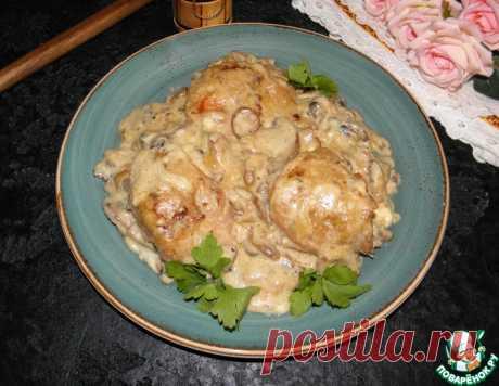 Курица в сливочно-грибном соусе – кулинарный рецепт