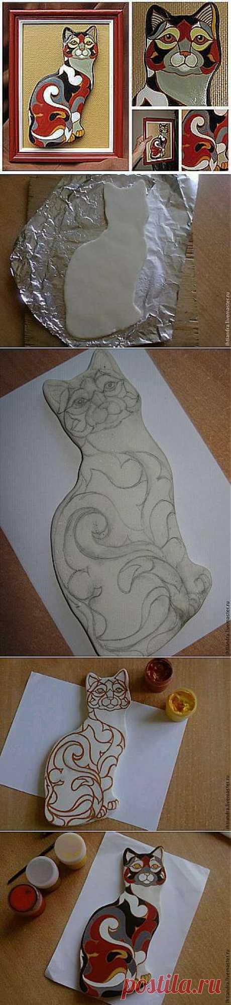 Мастер-класс: кошка из солёного теста в стиле De Rosa/Rinconada