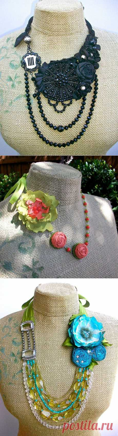 Текстильные украшения и воротник-украшение.