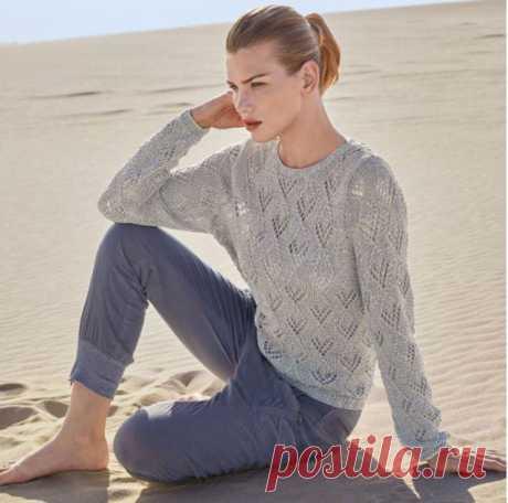 Серый джемпер из ленточной пряжи спицами – 3 лучшие модели со схемами и описанием — Пошивчик одежды
