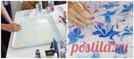 Как сделать «мраморную» бумагу