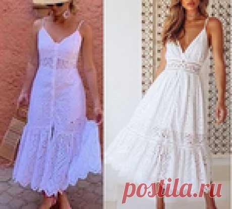 Платье-миди с оборками. Выкройка на евро размеры 36-56