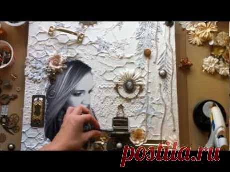 ~ Sweet November ~ Mixed Media Canvas Collage: Start-to-Finish Part 1 of 2