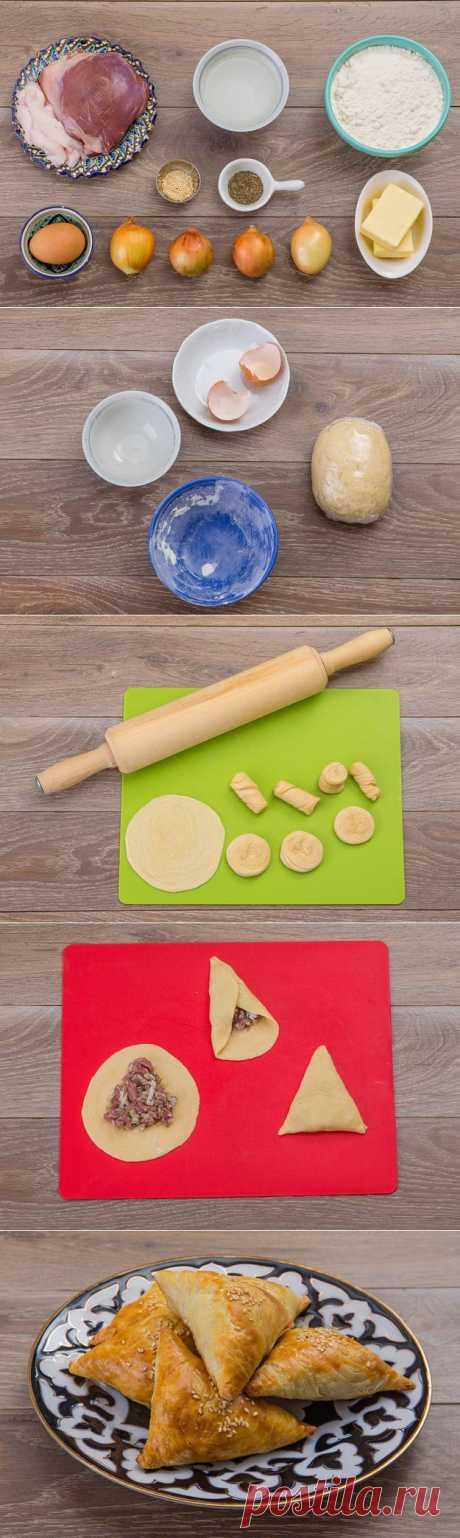 Домашняя самса с бараниной | Любимые рецепты